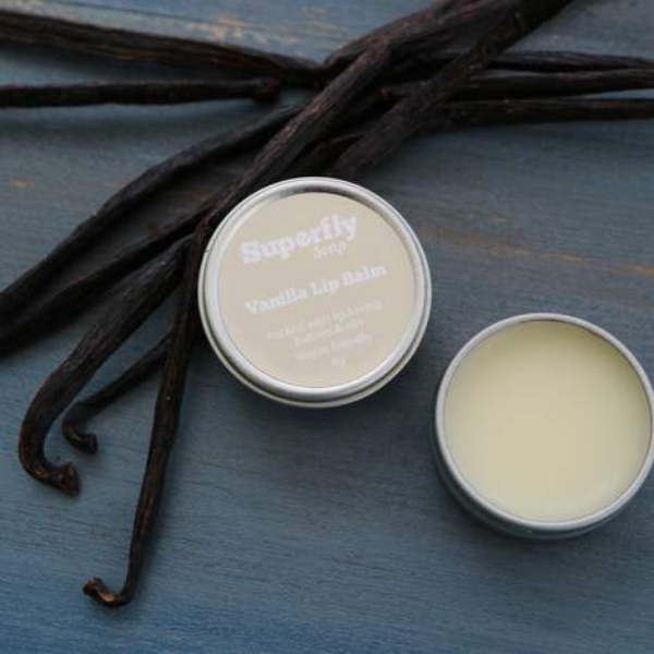 Superfly Soap eco friendly lip balm vanilla