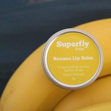 Load image into Gallery viewer, Superfly Soap eco friendly lip balm banana