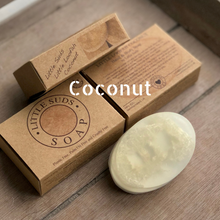 Load image into Gallery viewer, Little loofah soap bar Coconut