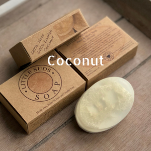 Little loofah soap bar Coconut