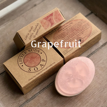 Load image into Gallery viewer, Little loofah soap bar Grapefruit