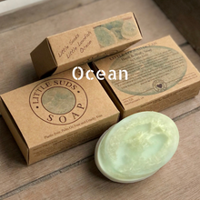 Load image into Gallery viewer, Little loofah soap bar Ocean