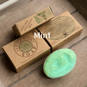 Little loofah soap bar Peppermint