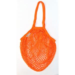 Long handled string bag orange
