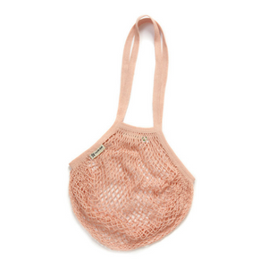 Long-handled string bag blush