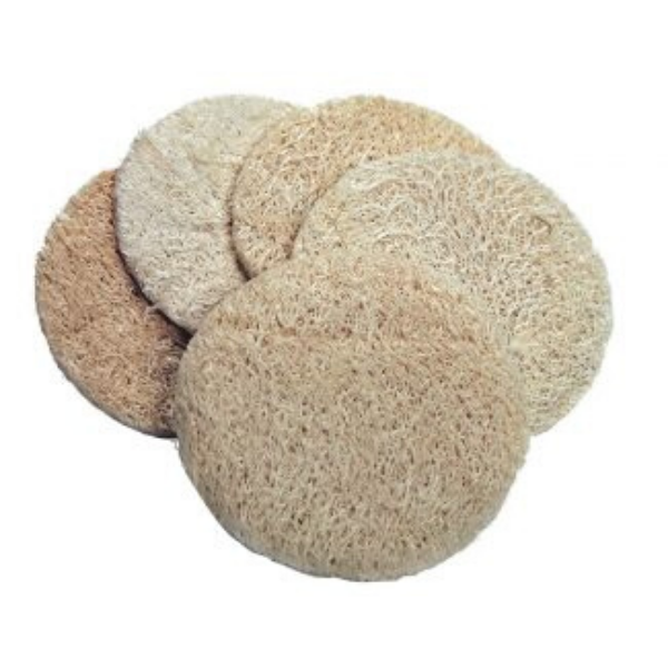 Eco-friendly natural exfoliating peeling pads loofah