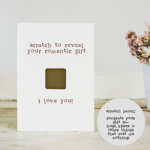Eco card romantic scratch