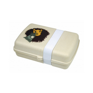 Eco friendly bamboo lunchbox lion