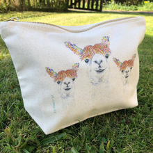 Load image into Gallery viewer, Lily the llama mini wash bag