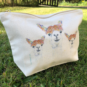Lily the llama mini wash bag