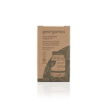 Load image into Gallery viewer, Georganics eco-friendly natural mouthwash tablets spearmint