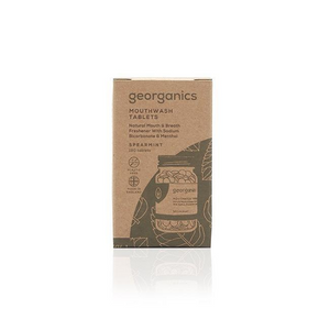 Georganics eco-friendly natural mouthwash tablets spearmint