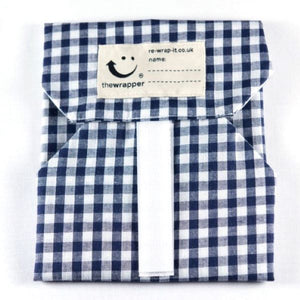Sandwich wrapper Navy blue check