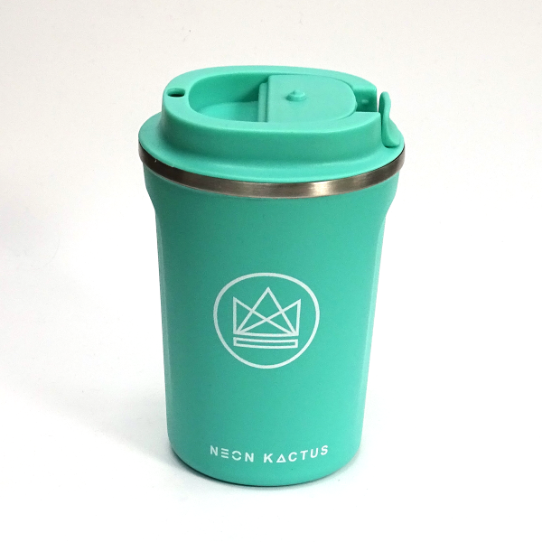 Neon Kaktus reusable insulated cup turquoise