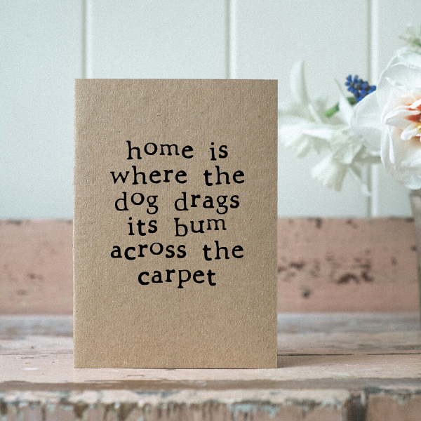 Eco card new home dog bum