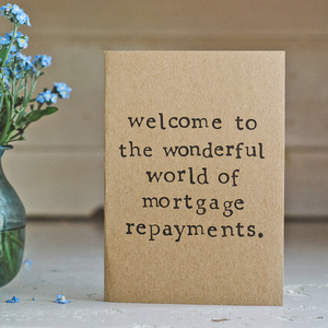 Eco card new home mortgage