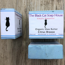 Load image into Gallery viewer, Eco-friendly Black Cat Soap House Soap bar Citrus breeze