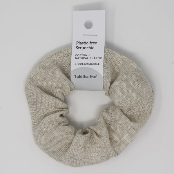 Plastic-free hair scrunchie Linen