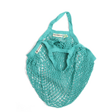 Load image into Gallery viewer, Short-handled string bag aqua