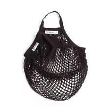 Load image into Gallery viewer, Short-handled string bag black