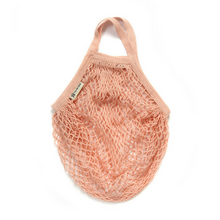 Load image into Gallery viewer, Short-handled string bag blush