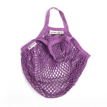 Load image into Gallery viewer, Short-handled string bag purple