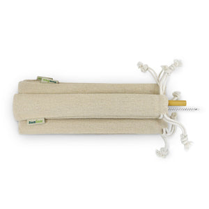 Single bamboo straw set