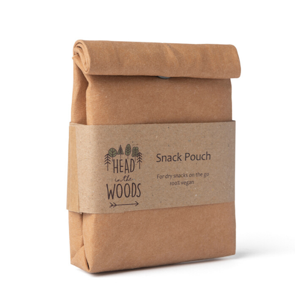 Vegan leather snack pouch natural