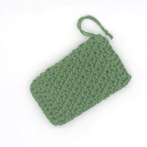 Soap saver bag crocheted forest green