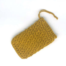 Load image into Gallery viewer, Soap saver bag crocheted mustard