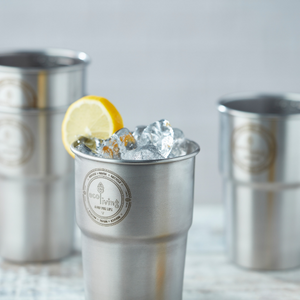 Stainless steel pint glass