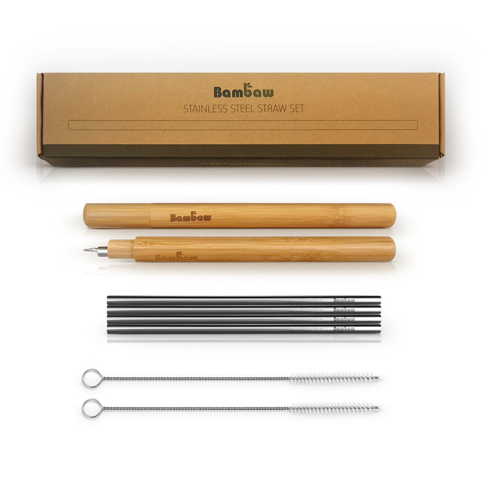 Contents of stainless steel straw set