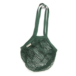 Long-handled string bag bottle green