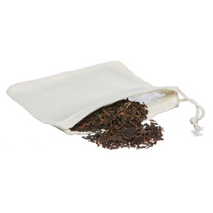 Reusable organic cotton teabag