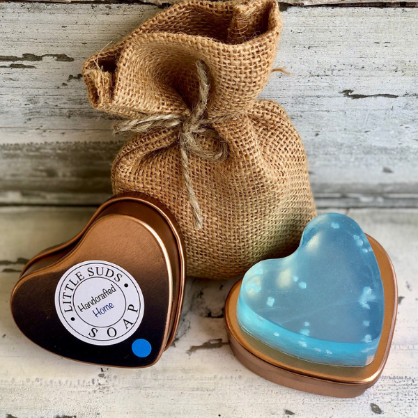 Tin heart soap Feeling beachy