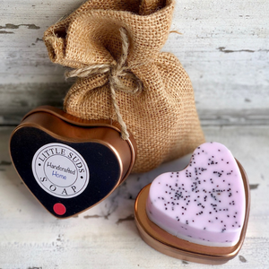 Tin heart soap Heaven scent