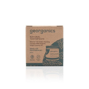 Georganics eco-friendly natural toothpaste English Peppermint