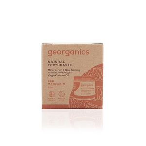 Georganics eco-friendly natural toothpaste Red Mandarin