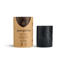Load image into Gallery viewer, Georganics natural toothsoap activated charcoal