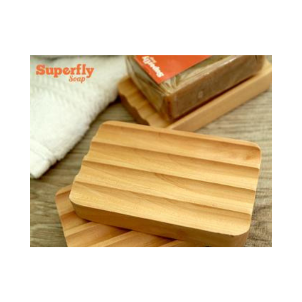 Eco-friendly wooden soapdish
