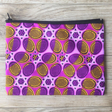 Load image into Gallery viewer, Charity zip purse pink yellow spotty