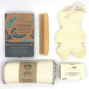 Eco-friendly baby gift set contents