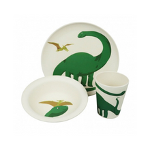 Load image into Gallery viewer, Bamboo kids dinner set dino