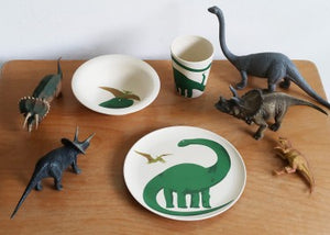 Bamboo kids dinner set dino