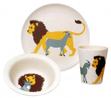 Load image into Gallery viewer, Bamboo kids dinner set lion
