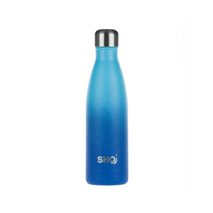 eco-friendly reusable 500ml bottle deux bleu