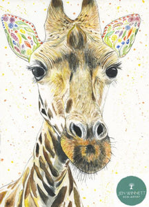 Georgie the Giraffe eco-card