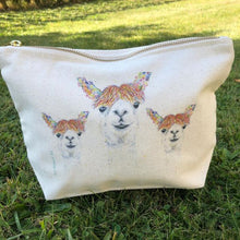 Load image into Gallery viewer, Eco mini wash bag Lily the Llama