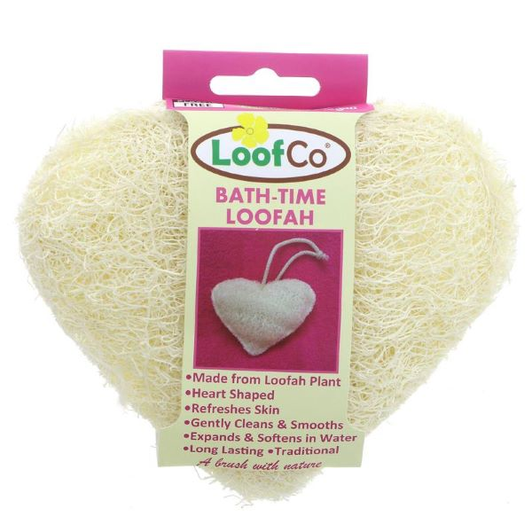 Bath time eco-friendly loofah heart shaped