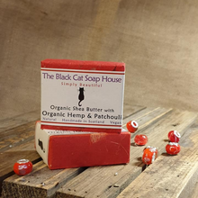 Load image into Gallery viewer, Eco-friendly Black Cat Soap House Soap bar organic hemp and patchouli